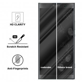 Cadorabo Panzer Folie für Sony Xperia XA2 PLUS - Schutzfolie in KRISTALL KLAR - Gehärtetes (Tempered) Display-Schutzglas in 9H Härte mit 3D Touch Kompatibilität - Vorschau 3