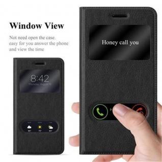 Cadorabo Hülle für Nokia 6 2017 in KOMETEN SCHWARZ - Handyhülle mit Magnetverschluss, Standfunktion und 2 Sichtfenstern - Case Cover Schutzhülle Etui Tasche Book Klapp Style - Vorschau 2