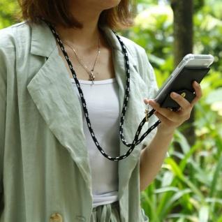 Cadorabo Handy Kette für Huawei NOVA 2 in SCHWARZ SILBER - Silikon Necklace Umhänge Hülle mit Gold Ringen, Kordel Band Schnur und abnehmbarem Etui ? Schutzhülle - Vorschau 3