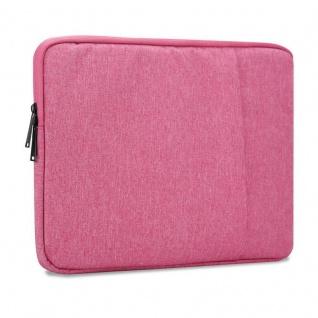Cadorabo Laptop / Tablet Tasche 13, 3'' Zoll in PINK ? Notebook Computer Tasche aus Stoff mit Samt-Innenfutter und Fach mit Anti-Kratz Reißverschluss ? Schutzhülle Sleeve Case
