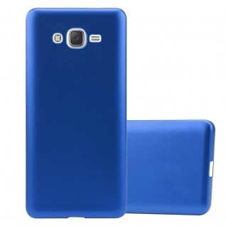 Cadorabo Hülle für Samsung Galaxy J7 2015 in METALLIC BLAU - Handyhülle aus flexiblem TPU Silikon - Silikonhülle Schutzhülle Ultra Slim Soft Back Cover Case Bumper