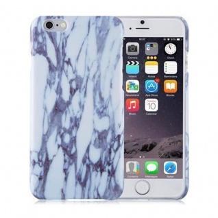 Cadorabo Hülle für Apple iPhone 6 / iPhone 6S - Hülle in WEIß BLAU ? Hardcase Handyhülle im Marmor Muster - Schutzhülle Bumper Back Case Cover