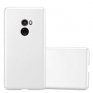 Cadorabo Hülle für Xiaomi Mi Mix 2 in METALL SILBER - Hardcase Handyhülle aus Plastik gegen Kratzer und Stöße - Schutzhülle Bumper Ultra Slim Back Case Hard Cover