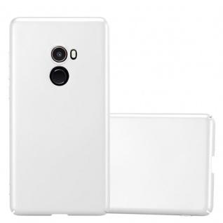 Cadorabo Hülle für Xiaomi Mi Mix 2 in METALL SILBER Hardcase Handyhülle aus Plastik gegen Kratzer und Stöße Schutzhülle Bumper Ultra Slim Back Case Hard Cover