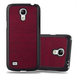 Cadorabo Hülle für Samsung Galaxy S4 MINI in WOODY ROT ? Hardcase Handyhülle aus Plastik gegen Kratzer und Stöße ? Schutzhülle Bumper Ultra Slim Back Case Hard Cover