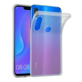 Cadorabo Hülle für Huawei P SMART PLUS in VOLL TRANSPARENT - Handyhülle aus flexiblem TPU Silikon - Silikonhülle Schutzhülle Ultra Slim Soft Back Cover Case Bumper