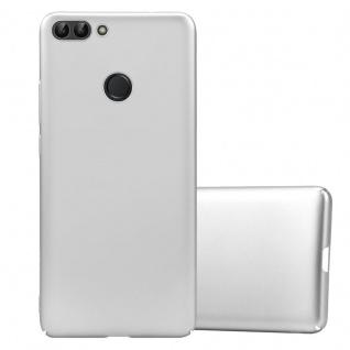 Cadorabo Hülle für Huawei P SMART / Enjoy 7S in METALL SILBER Hardcase Handyhülle aus Plastik gegen Kratzer und Stöße Schutzhülle Bumper Ultra Slim Back Case Hard Cover