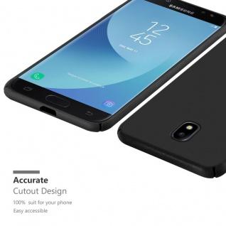 Cadorabo Hülle für Samsung Galaxy J5 2017 in METALL SCHWARZ ? Hardcase Handyhülle aus Plastik gegen Kratzer und Stöße ? Schutzhülle Bumper Ultra Slim Back Case Hard Cover - Vorschau 5