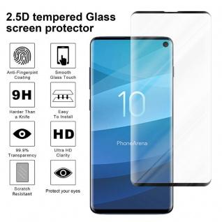 Cadorabo Vollbild Panzer Folie für Samsung Galaxy S10 - Schutzfolie in TRANSPARENT mit SCHWARZ - Gehärtetes (Tempered) Display-Schutzglas in 9H Härte mit 3D Touch Kompatibilität - Vorschau 4