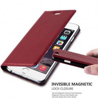 Cadorabo Hülle für Apple iPhone 6 / iPhone 6S in APFEL ROT - Handyhülle mit Magnetverschluss, Standfunktion und Kartenfach - Case Cover Schutzhülle Etui Tasche Book Klapp Style