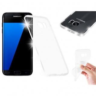 Cadorabo Hülle für Samsung Galaxy S7 EDGE - Hülle in TRANSPARENT WEIß ? Handyhülle aus TPU Silikon im Strass Design - Silikonhülle Schutzhülle Ultra Slim Soft Back Cover Case Bumper