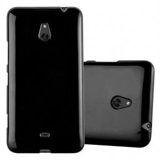 Cadorabo Hülle für Nokia Lumia 1320 in JELLY SCHWARZ - Handyhülle aus flexiblem TPU Silikon - Silikonhülle Schutzhülle Ultra Slim Soft Back Cover Case Bumper