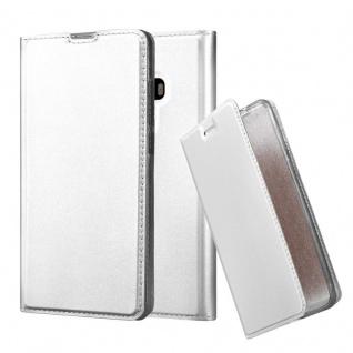 Cadorabo Hülle für Xiaomi Mi MIX 2 in CLASSY SILBER - Handyhülle mit Magnetverschluss, Standfunktion und Kartenfach - Case Cover Schutzhülle Etui Tasche Book Klapp Style