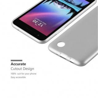 Cadorabo Hülle für LG K4 2017 in METALLIC SILBER - Handyhülle aus flexiblem TPU Silikon - Silikonhülle Schutzhülle Ultra Slim Soft Back Cover Case Bumper - Vorschau 2