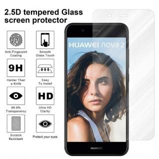 Cadorabo Panzer Folie für Huawei NOVA 2 - Schutzfolie in KRISTALL KLAR - Gehärtetes (Tempered) Display-Schutzglas in 9H Härte mit 3D Touch Kompatibilität - Vorschau 4