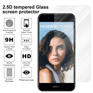 Cadorabo Panzer Folie für Huawei NOVA 2 Schutzfolie in KRISTALL KLAR Gehärtetes (Tempered) Display-Schutzglas in 9H Härte mit 3D Touch Kompatibilität - Vorschau 4