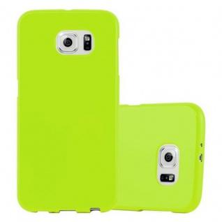 Cadorabo Hülle für Samsung Galaxy S6 in JELLY GRÜN ? Handyhülle aus flexiblem TPU Silikon ? Silikonhülle Schutzhülle Ultra Slim Soft Back Cover Case Bumper