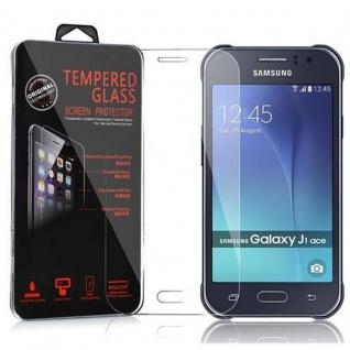 Cadorabo Panzer Folie für Samsung Galaxy J1 ACE (J110) - Schutzfolie in KRISTALL KLAR - Gehärtetes (Tempered) Display-Schutzglas in 9H Härte mit 3D Touch Kompatibilität