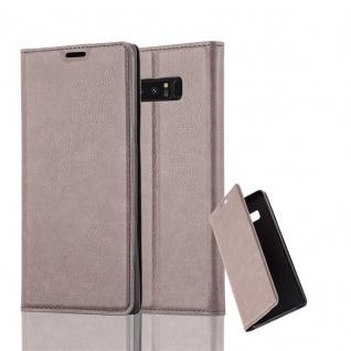Cadorabo Hülle für Samsung Galaxy NOTE 8 - Hülle in KAFFEE BRAUN ? Handyhülle mit Magnetverschluss, Standfunktion und Kartenfach - Case Cover Schutzhülle Etui Tasche Book Klapp Style