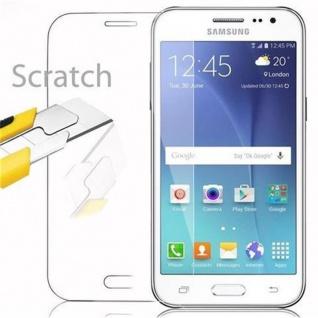 Cadorabo Panzer Folie für Samsung Galaxy J2 - Schutzfolie in KRISTALL KLAR - Gehärtetes (Tempered) Display-Schutzglas in 9H Härte mit 3D Touch Kompatibilität - Vorschau 2