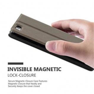 Cadorabo Hülle für Huawei P8 LITE 2015 in STEIN BRAUN ? Handyhülle mit Magnetverschluss, Standfunktion und 2 Sichtfenstern ? Case Cover Schutzhülle Etui Tasche Book Klapp Style - Vorschau 4