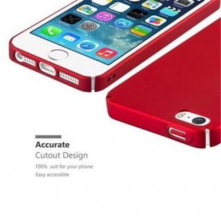 Cadorabo Hülle für Apple iPhone 5 / iPhone 5S / iPhone SE in METALL ROT - Hardcase Handyhülle aus Plastik gegen Kratzer und Stöße - Schutzhülle Bumper Ultra Slim Back Case Hard Cover - Vorschau 3