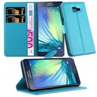 Cadorabo Hülle für Samsung Galaxy A5 2016 in PASTEL BLAU - Handyhülle mit Magnetverschluss, Standfunktion und Kartenfach - Case Cover Schutzhülle Etui Tasche Book Klapp Style