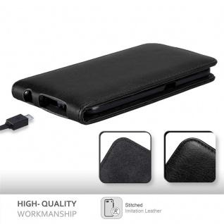 Cadorabo Hülle für Samsung Galaxy S6 in NACHT SCHWARZ - Handyhülle im Flip Design mit unsichtbarem Magnetverschluss - Case Cover Schutzhülle Etui Tasche Book Klapp Style - Vorschau 5