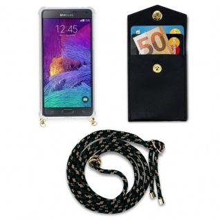 Cadorabo Handy Kette für Samsung Galaxy NOTE 4 in CAMOUFLAGE ? Silikon Necklace Umhänge Hülle mit Gold Ringen, Kordel Band Schnur und abnehmbarem Etui ? Schutzhülle - Vorschau 5