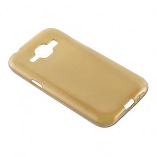 Cadorabo Hülle für Samsung Galaxy J1 2015 in GOLD - Handyhülle aus flexiblem TPU Silikon - Silikonhülle Schutzhülle Ultra Slim Soft Back Cover Case Bumper - Vorschau 4