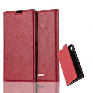 Cadorabo Hülle für Sony Xperia T3 in APFEL ROT Handyhülle mit Magnetverschluss, Standfunktion und Kartenfach Case Cover Schutzhülle Etui Tasche Book Klapp Style - Vorschau 1