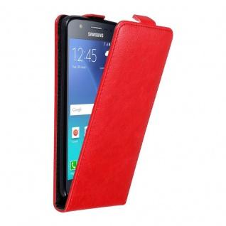 Cadorabo Hülle für Samsung Galaxy J5 2015 in APFEL ROT Handyhülle im Flip Design mit unsichtbarem Magnetverschluss Case Cover Schutzhülle Etui Tasche Book Klapp Style
