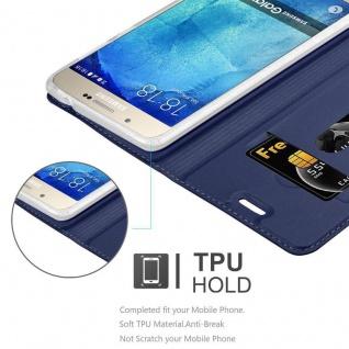 Cadorabo Hülle für Samsung Galaxy A8 2015 in CLASSY DUNKEL BLAU - Handyhülle mit Magnetverschluss, Standfunktion und Kartenfach - Case Cover Schutzhülle Etui Tasche Book Klapp Style - Vorschau 2