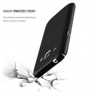 Cadorabo Hülle für Samsung Galaxy J1 2015 in METALL SCHWARZ - Hardcase Handyhülle aus Plastik gegen Kratzer und Stöße - Schutzhülle Bumper Ultra Slim Back Case Hard Cover - Vorschau 3