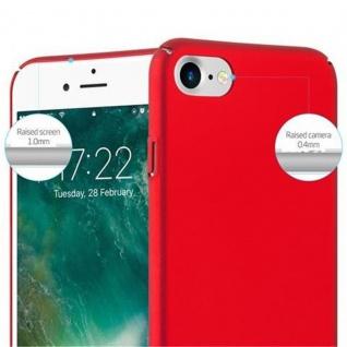 Cadorabo Hülle für Apple iPhone 7 / iPhone 7S / iPhone 8 in METALL ROT - Hardcase Handyhülle aus Plastik gegen Kratzer und Stöße - Schutzhülle Bumper Ultra Slim Back Case Hard Cover - Vorschau 5