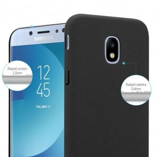 Cadorabo Hülle für Samsung Galaxy J7 2017 in FROSTY SCHWARZ - Hardcase Handyhülle aus Plastik gegen Kratzer und Stöße - Schutzhülle Bumper Ultra Slim Back Case Hard Cover - Vorschau 3