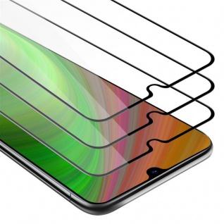 Cadorabo 3x Vollbild Panzer Folie für Samsung Galaxy A70 - Schutzfolie in TRANSPARENT mit SCHWARZ - 3er Pack Gehärtetes (Tempered) Display-Schutzglas in 9H Härte mit 3D Touch