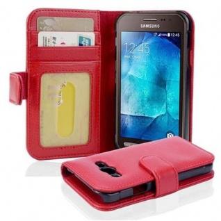 Cadorabo Hülle für Samsung Galaxy Xcover 3 in INFERNO ROT ? Handyhülle mit Magnetverschluss und 3 Kartenfächern ? Case Cover Schutzhülle Etui Tasche Book Klapp Style