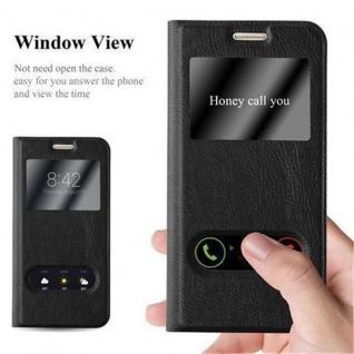 Cadorabo Hülle für Samsung Galaxy S7 in KOMETEN SCHWARZ ? Handyhülle mit Magnetverschluss, Standfunktion und 2 Sichtfenstern ? Case Cover Schutzhülle Etui Tasche Book Klapp Style - Vorschau 2