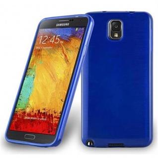 Cadorabo Hülle für Samsung Galaxy NOTE 3 in BLAU - Handyhülle aus flexiblem TPU Silikon - Silikonhülle Schutzhülle Ultra Slim Soft Back Cover Case Bumper