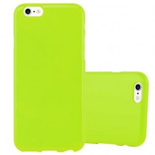 Cadorabo Hülle für Apple iPhone 6 / iPhone 6S in JELLY GRÜN - Handyhülle aus flexiblem TPU Silikon - Silikonhülle Schutzhülle Ultra Slim Soft Back Cover Case Bumper - Vorschau 1