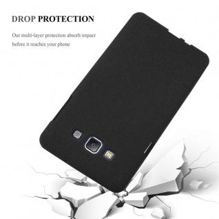 Cadorabo Hülle für Samsung Galaxy A7 2015 in FROST SCHWARZ - Handyhülle aus flexiblem TPU Silikon - Silikonhülle Schutzhülle Ultra Slim Soft Back Cover Case Bumper - Vorschau 5