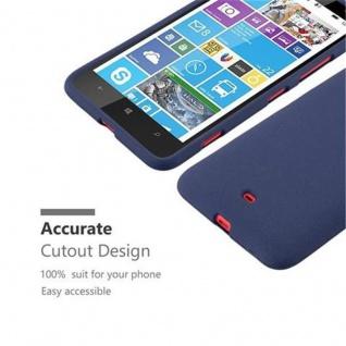 Cadorabo Hülle für Nokia Lumia 1320 in FROST DUNKEL BLAU - Handyhülle aus flexiblem TPU Silikon - Silikonhülle Schutzhülle Ultra Slim Soft Back Cover Case Bumper - Vorschau 2