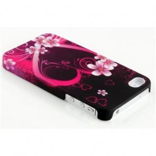 Cadorabo - Hard Cover für Apple iPhone 4 / iPhone 4S - Case Cover Schutzhülle Bumper im Design: LOVE FLOWER - Vorschau 2