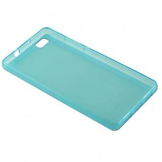 Cadorabo Hülle für Huawei P8 LITE 2015 in TRANSPARENT BLAU - Handyhülle aus flexiblem TPU Silikon - Silikonhülle Schutzhülle Ultra Slim Soft Back Cover Case Bumper - Vorschau 4