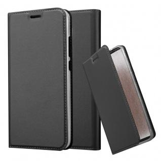 Cadorabo Hülle für Huawei NOVA PLUS in CLASSY SCHWARZ - Handyhülle mit Magnetverschluss, Standfunktion und Kartenfach - Case Cover Schutzhülle Etui Tasche Book Klapp Style