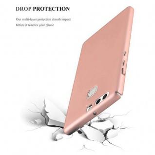 Cadorabo Hülle für Huawei P9 in METALL ROSE GOLD - Hardcase Handyhülle aus Plastik gegen Kratzer und Stöße - Schutzhülle Bumper Ultra Slim Back Case Hard Cover - Vorschau 5