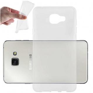 Cadorabo Hülle für Samsung Galaxy A7 2016 in VOLL TRANSPARENT - Handyhülle aus flexiblem TPU Silikon - Silikonhülle Schutzhülle Ultra Slim Soft Back Cover Case Bumper