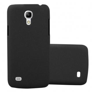 Cadorabo Hülle für Samsung Galaxy S4 MINI in FROSTY SCHWARZ - Hardcase Handyhülle aus Plastik gegen Kratzer und Stöße - Schutzhülle Bumper Ultra Slim Back Case Hard Cover