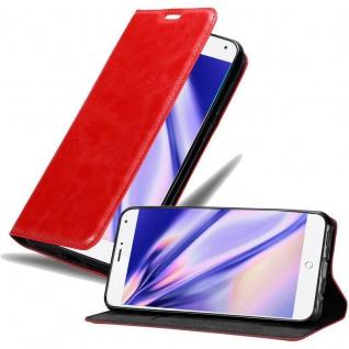 Cadorabo Hülle für MEIZU MX4 in APFEL ROT Handyhülle mit Magnetverschluss, Standfunktion und Kartenfach Case Cover Schutzhülle Etui Tasche Book Klapp Style
